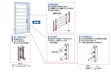 室内面格子(固定式)7